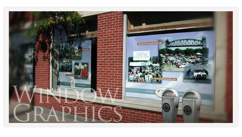 Custom made window decals for business